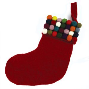 Down To The Woods Christmas Stocking Freckle Red