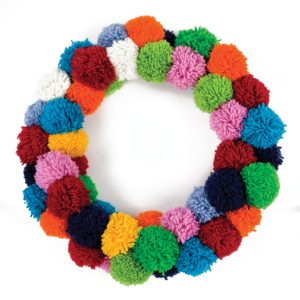 Down To The Woods Christmas Wreath Pom Pom