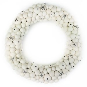 Down To The Woods Christmas Wreath Large White