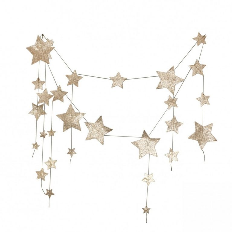 Numero 74 Falling Star Garland Gold