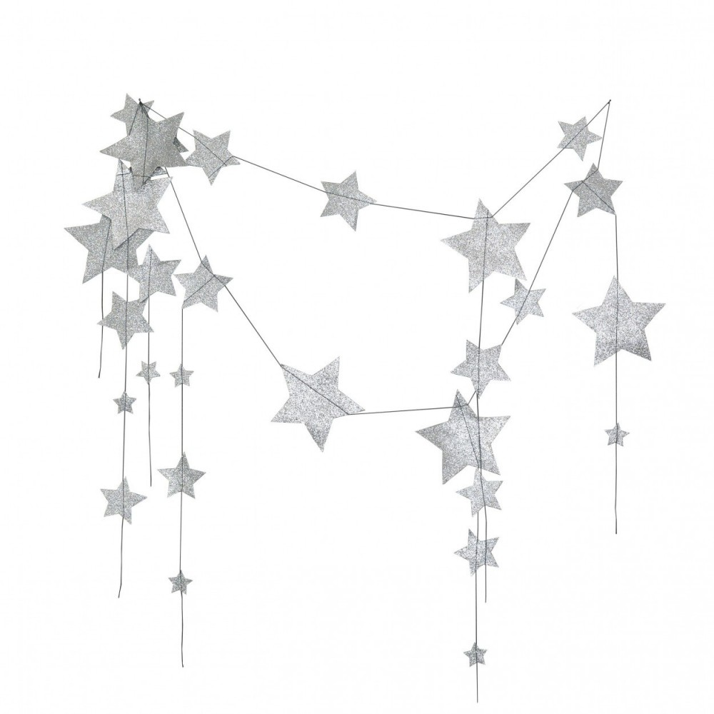 Numero 74 Falling Star Garland Silver