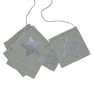 Numero 74 Fancy Star Garland Silver Grey