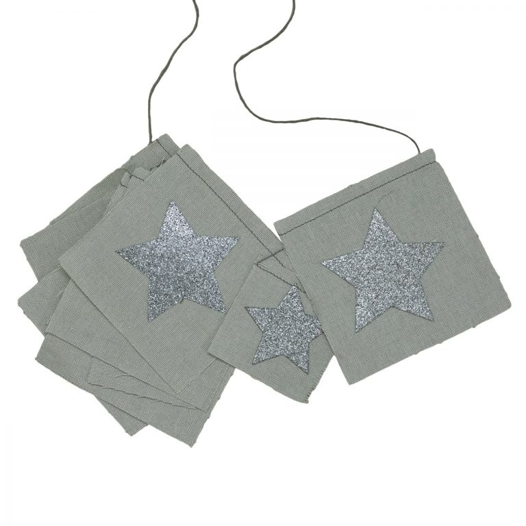 Numero 74 Fancy Star Garland Silver Grey