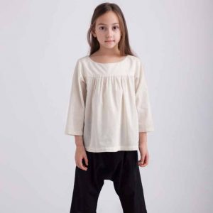 Kin Gathered Front Shirt Natural