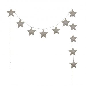Numero 74 Padded Star Garland Iridescent Cream