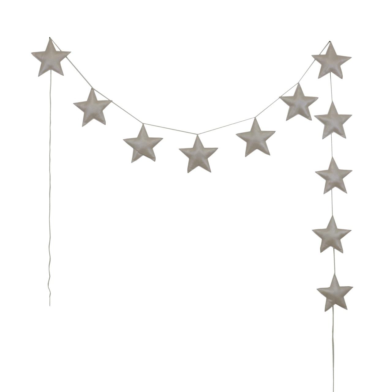 Numero 74 Padded Star Garland Iridescent Cream