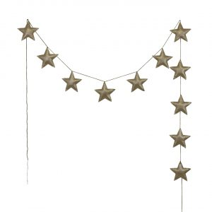 Numero 74 Star Padded Garland Iridescent Gold