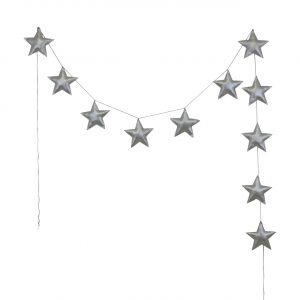 Numero 74 Star Padded Garland Iridescent Silver