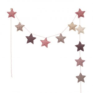 Numero 74 Padded Star Garland Pink