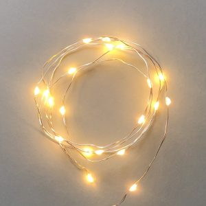 Wire LED String Lights Silver