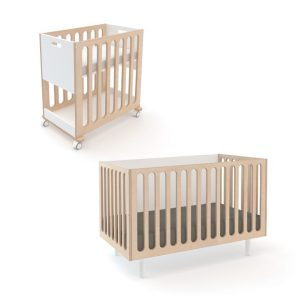 Oeuf Fawn Bassinet & Cot Birch White