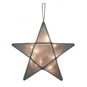 Numero 74 Star Lantern Silver Grey