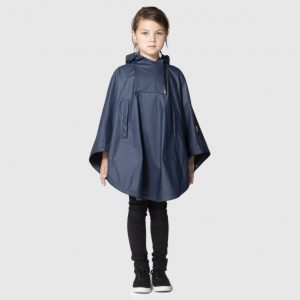 GOSOAKY Black Swan Unlined Cape Mood Indigo