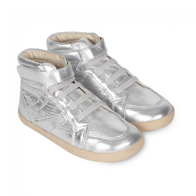 Old Soles Cheer Leader High Top Silver
