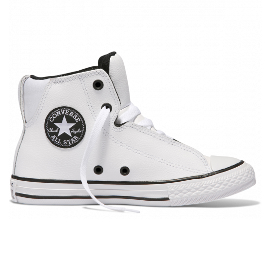 Converse Chuck Taylor All Star Legit Leather Youth High Top White