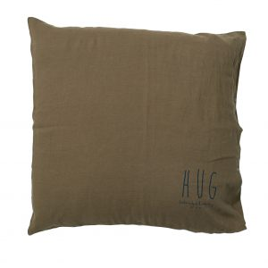 Bed & Philosophy Hug Cushion Kaki