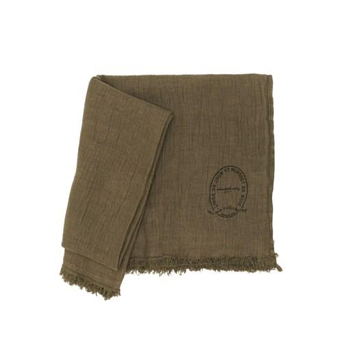Bed & Philosophy Plaid Warmy Up Blanket Kaki
