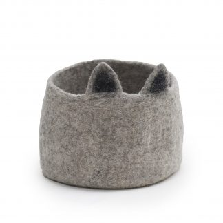 Muskhane Calabash Storage Basket Pasu Catty Light Stone