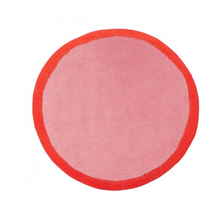 Muskhane Lumbini Rug Indian Pink/Fluro Orange