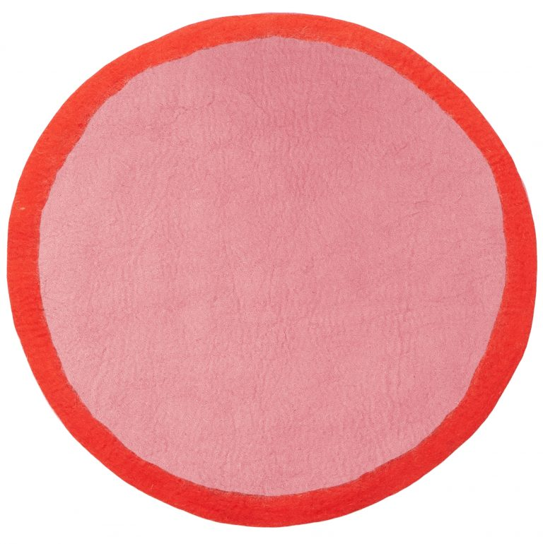 Muskhane Lumbini Rug Indian Pink/Fluro Orange