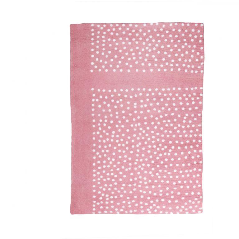 Muskhane Paddy Rug Indian Pink