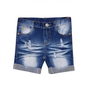 Bella & Lace Denim Roll Shorts