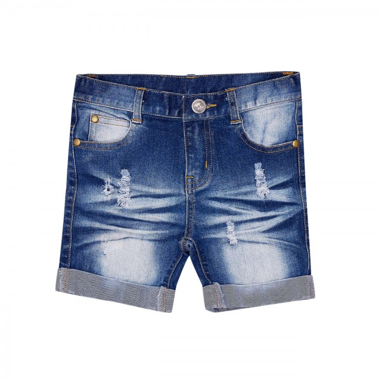 Bella and Lace Roll Shorts Denim