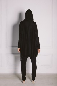 Kin Merino Hooded Cardigan Black