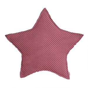 Numero 74 Star Cushion Popeline White Dots Baobab Rose