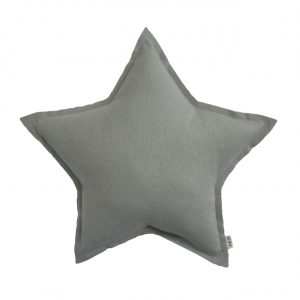 Numero 74 Star Cushion Sparkling Silver Grey