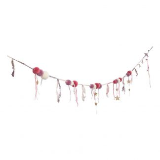Numero 74 Pompom Garland Pink