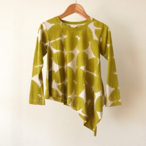 Kin Long Sleeve Diagonal Tee Dust Mustard Petal