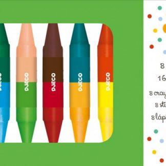 Djeco Twins Crayons x 8
