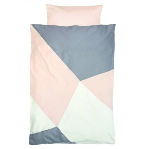 Fabelab Sleepy Junior Cot Quilt Cover Set Alisan Geometric