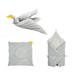 Fabelab Dreamy Bird Blanket Foggy Blue