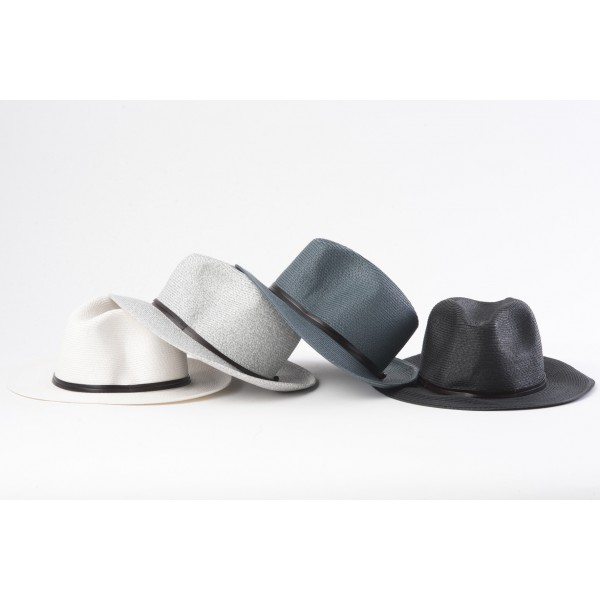Travaux En Cours Borsalino Hat Light Grey