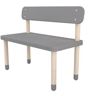Flexa Play Bench with Back Rest Urban Grey