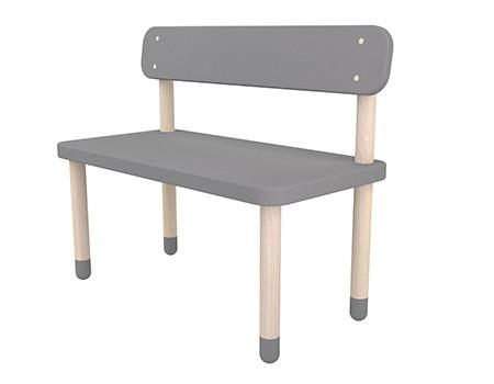 Flexa Play Bench with Back Rest Urban Grey