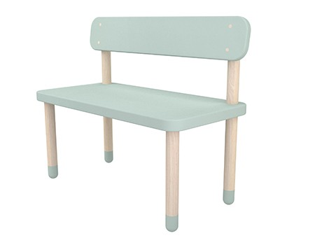 Flexa Play Bench with Back Rest Mint Green