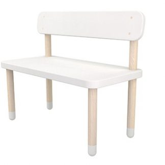 Flexa Play Bench with Back Rest White