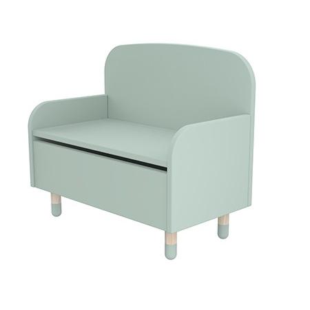 Flexa Play Storage Bench With Backrest Mint Green