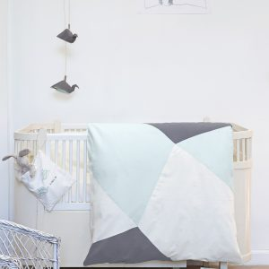 Fabelab Baby Bassinet Bed Cover Jade Geometric