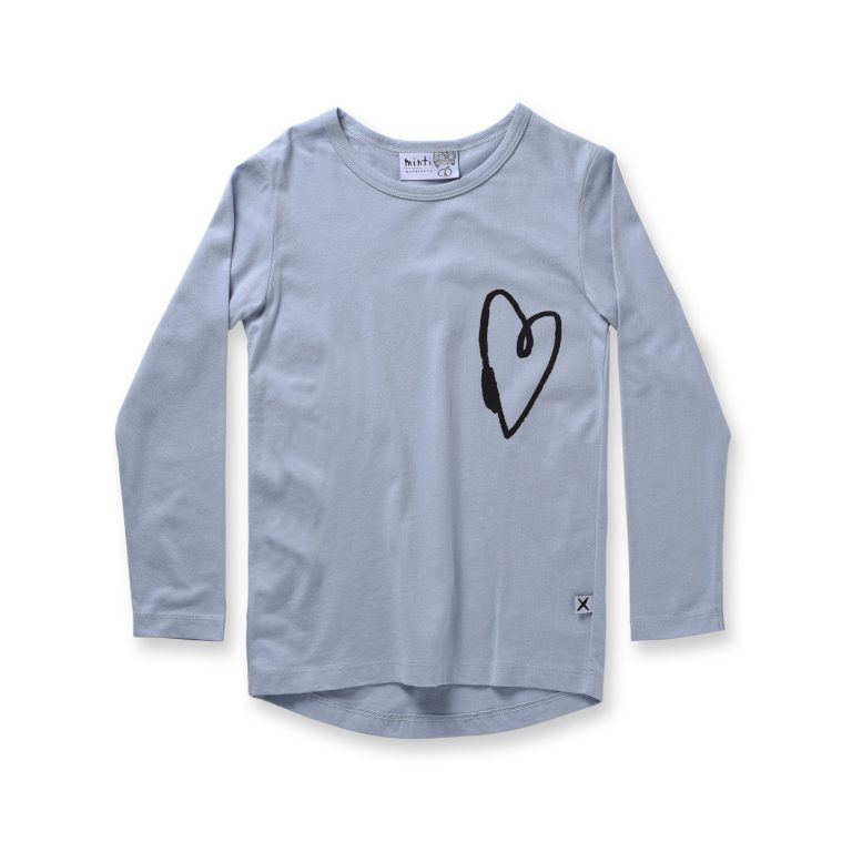 Minti Lovely Heart L/Sleeve Tee Frost