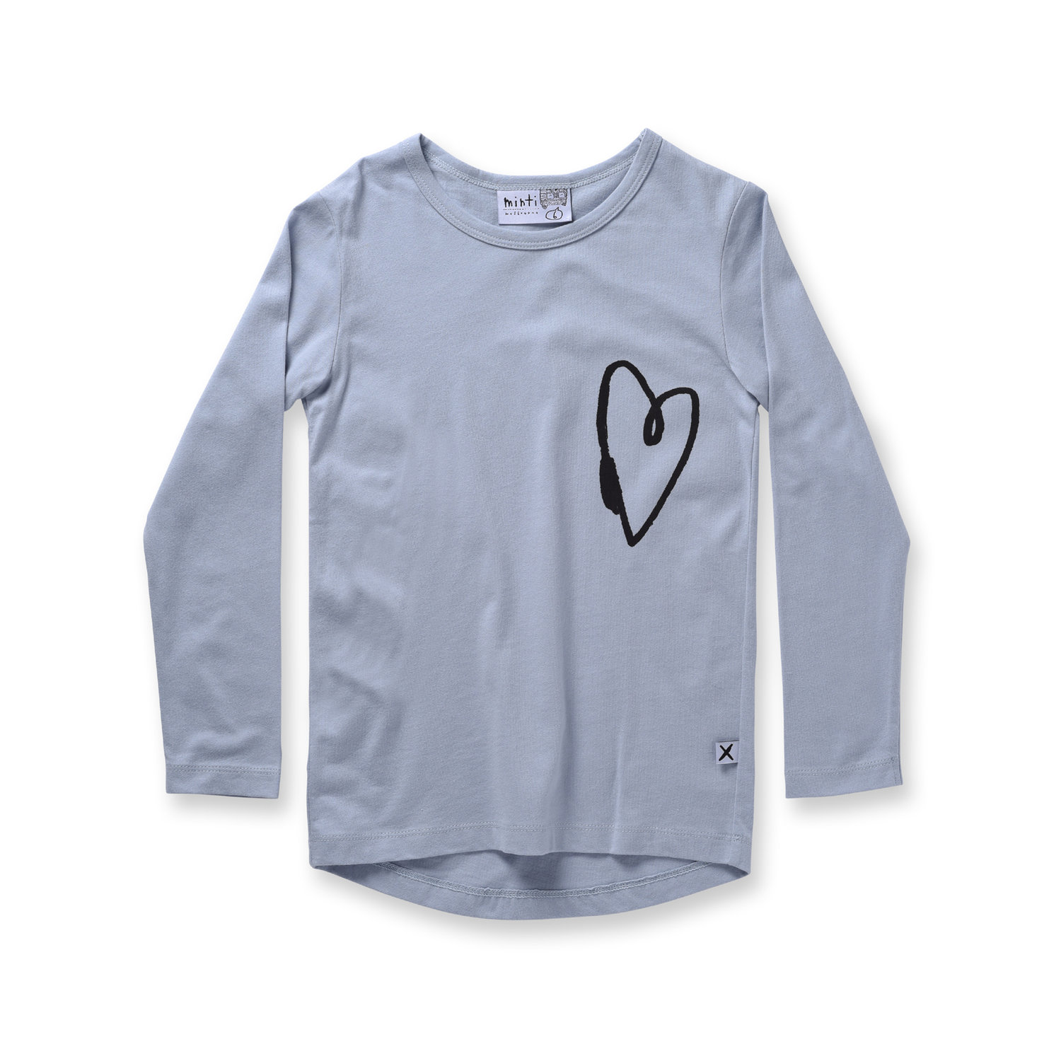 Minti Lovely Heart L/Sleeve Tee Frost