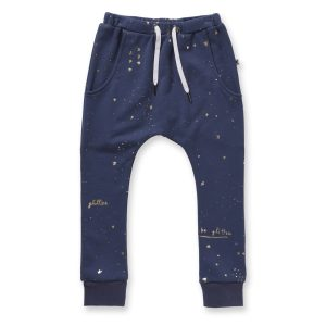 Minti Glitter Furry Trackies Midnight