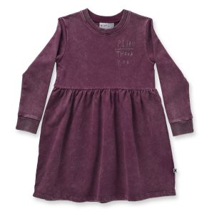 Minti Manners Dress Plum Wash