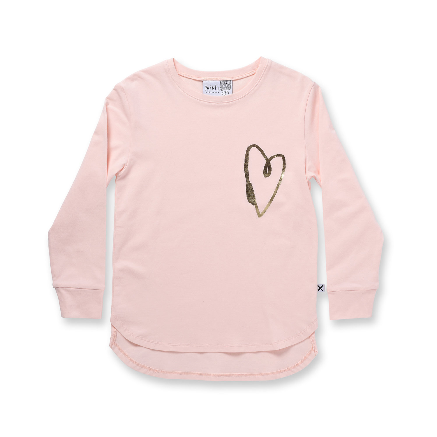 Minti Lovely Heart L/Sleeve Tee Ballet