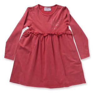 Minti Manners Gigi Dress Red Wash