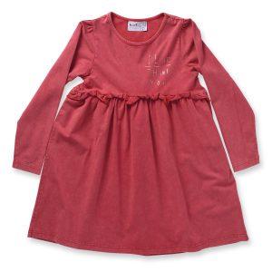 Minti Manners Gigi Dress Red Wash