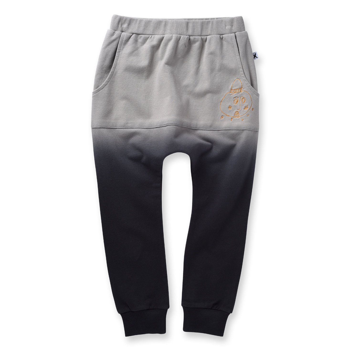 Minti Scribble Man Pouch Trackies Stone